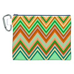 Chevron Wave Color Rainbow Triangle Waves Canvas Cosmetic Bag (xxl) by Alisyart