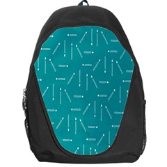 Digital Art Minimalism Abstract Candles Blue Background Fire Backpack Bag