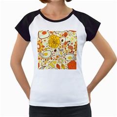 Cute Fall Flower Rose Leaf Star Sunflower Orange Women s Cap Sleeve T by Alisyart