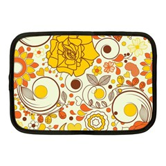 Cute Fall Flower Rose Leaf Star Sunflower Orange Netbook Case (medium)  by Alisyart