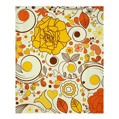 Cute Fall Flower Rose Leaf Star Sunflower Orange Shower Curtain 60  X 72  (medium)  by Alisyart