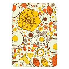 Cute Fall Flower Rose Leaf Star Sunflower Orange Flap Covers (l)  by Alisyart