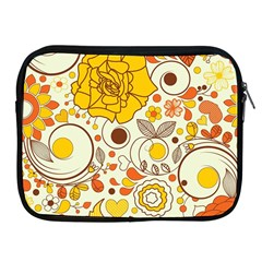 Cute Fall Flower Rose Leaf Star Sunflower Orange Apple Ipad 2/3/4 Zipper Cases by Alisyart