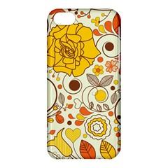 Cute Fall Flower Rose Leaf Star Sunflower Orange Apple Iphone 5c Hardshell Case by Alisyart