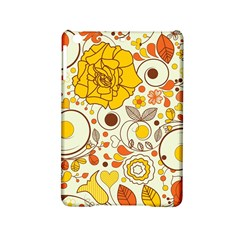 Cute Fall Flower Rose Leaf Star Sunflower Orange Ipad Mini 2 Hardshell Cases by Alisyart
