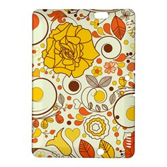 Cute Fall Flower Rose Leaf Star Sunflower Orange Kindle Fire Hdx 8 9  Hardshell Case by Alisyart