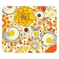 Cute Fall Flower Rose Leaf Star Sunflower Orange Double Sided Flano Blanket (small)  by Alisyart