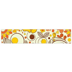 Cute Fall Flower Rose Leaf Star Sunflower Orange Flano Scarf (small) by Alisyart