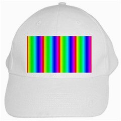 Rainbow Gradient White Cap by Simbadda