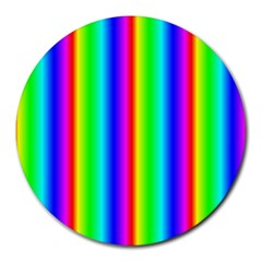 Rainbow Gradient Round Mousepads by Simbadda