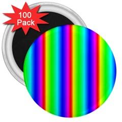 Rainbow Gradient 3  Magnets (100 pack) by Simbadda