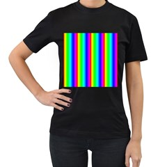 Rainbow Gradient Women s T Shirt (black) by Simbadda
