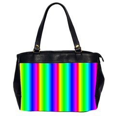 Rainbow Gradient Office Handbags (2 Sides)  by Simbadda