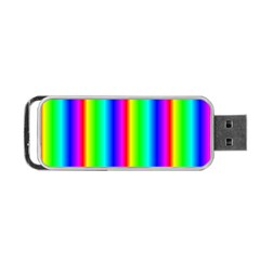 Rainbow Gradient Portable Usb Flash (one Side) by Simbadda