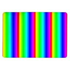 Rainbow Gradient Samsung Galaxy Tab 10 1  P7500 Flip Case by Simbadda
