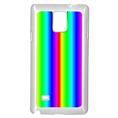 Rainbow Gradient Samsung Galaxy Note 4 Case (white) by Simbadda