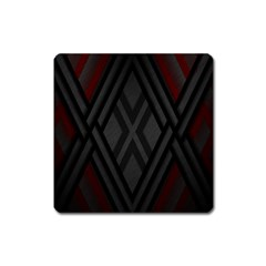 Abstract Dark Simple Red Square Magnet