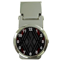 Abstract Dark Simple Red Money Clip Watches by Simbadda