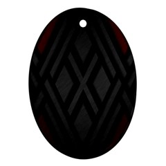Abstract Dark Simple Red Oval Ornament (two Sides) by Simbadda