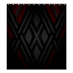 Abstract Dark Simple Red Shower Curtain 66  X 72  (large)  by Simbadda