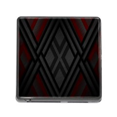 Abstract Dark Simple Red Memory Card Reader (square) by Simbadda