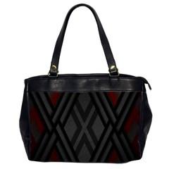 Abstract Dark Simple Red Office Handbags (2 Sides)  by Simbadda