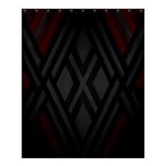 Abstract Dark Simple Red Shower Curtain 60  X 72  (medium)  by Simbadda