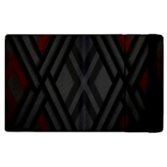 Abstract Dark Simple Red Apple Ipad 2 Flip Case by Simbadda