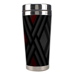 Abstract Dark Simple Red Stainless Steel Travel Tumblers by Simbadda