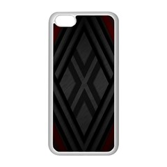 Abstract Dark Simple Red Apple Iphone 5c Seamless Case (white) by Simbadda