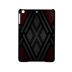 Abstract Dark Simple Red Ipad Mini 2 Hardshell Cases by Simbadda