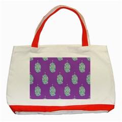 Disco Ball Wallpaper Retina Purple Light Classic Tote Bag (red) by Alisyart