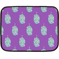 Disco Ball Wallpaper Retina Purple Light Double Sided Fleece Blanket (mini)  by Alisyart