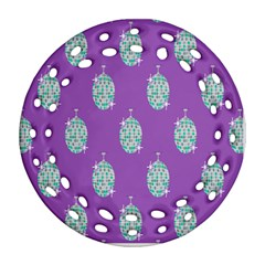 Disco Ball Wallpaper Retina Purple Light Ornament (round Filigree) by Alisyart