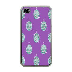 Disco Ball Wallpaper Retina Purple Light Apple Iphone 4 Case (clear) by Alisyart