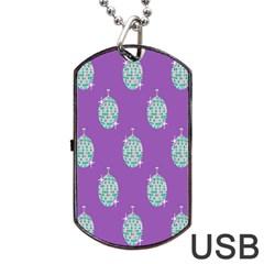 Disco Ball Wallpaper Retina Purple Light Dog Tag Usb Flash (two Sides) by Alisyart