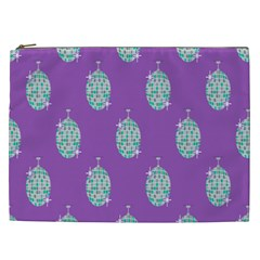 Disco Ball Wallpaper Retina Purple Light Cosmetic Bag (xxl)  by Alisyart