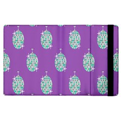Disco Ball Wallpaper Retina Purple Light Apple Ipad 3/4 Flip Case by Alisyart