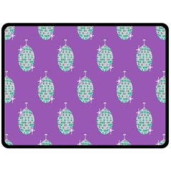 Disco Ball Wallpaper Retina Purple Light Double Sided Fleece Blanket (large)  by Alisyart