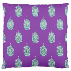 Disco Ball Wallpaper Retina Purple Light Large Flano Cushion Case (two Sides) by Alisyart