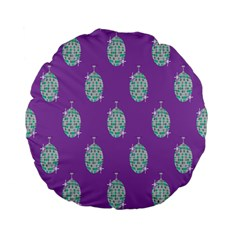 Disco Ball Wallpaper Retina Purple Light Standard 15  Premium Flano Round Cushions by Alisyart