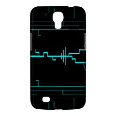 Blue Aqua Digital Art Circuitry Gray Black Artwork Abstract Geometry Samsung Galaxy Mega 6 3  I9200 Hardshell Case by Simbadda