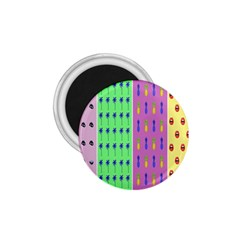 Eye Coconut Palms Lips Pineapple Pink Green Red Yellow 1 75  Magnets by Alisyart