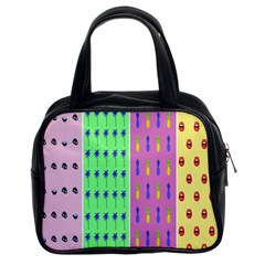 Eye Coconut Palms Lips Pineapple Pink Green Red Yellow Classic Handbags (2 Sides) by Alisyart