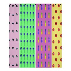 Eye Coconut Palms Lips Pineapple Pink Green Red Yellow Shower Curtain 60  X 72  (medium)  by Alisyart