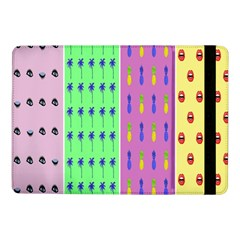 Eye Coconut Palms Lips Pineapple Pink Green Red Yellow Samsung Galaxy Tab Pro 10 1  Flip Case by Alisyart
