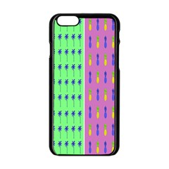 Eye Coconut Palms Lips Pineapple Pink Green Red Yellow Apple Iphone 6/6s Black Enamel Case by Alisyart