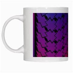 Colorful Red & Blue Gradient Background White Mugs by Simbadda