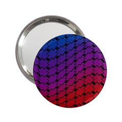 Colorful Red & Blue Gradient Background 2 25  Handbag Mirrors by Simbadda