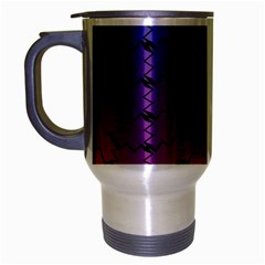 Colorful Red & Blue Gradient Background Travel Mug (silver Gray) by Simbadda